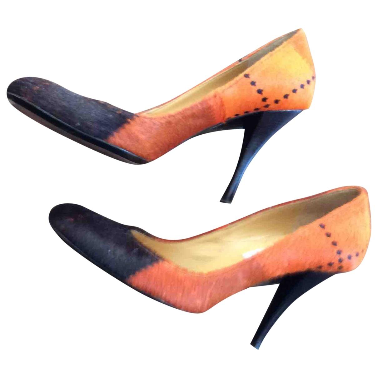 Left & Right \N Orange Suede Heels for Women 36.5 EU