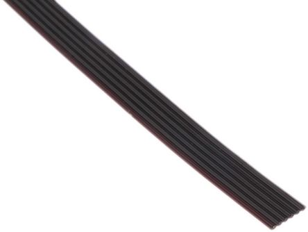 3M 6 Way Unscreened Flat Ribbon Cable, 7.62 mm Width, Series 3319
