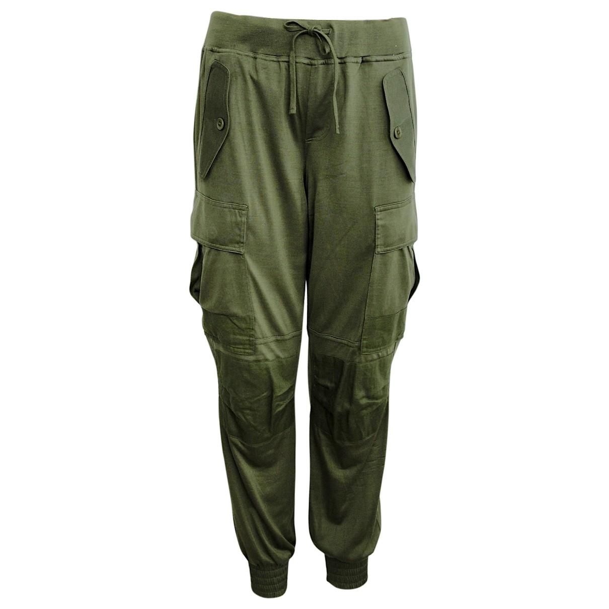 Polo Ralph Lauren \N Green Silk Trousers for Women S International