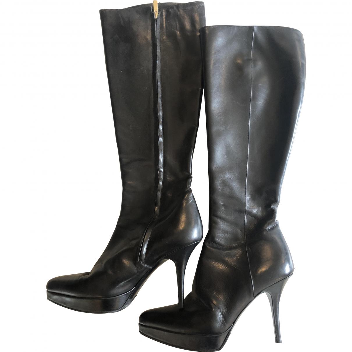 Yves Saint Laurent \N Black Leather Boots for Women 38 EU