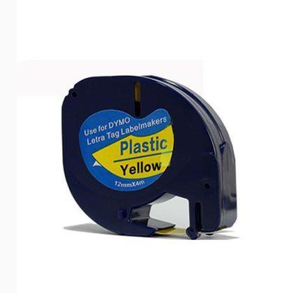 DYMO 91332 LetraTag Plastic Tape Cassette, 12mm X 4m (1/2