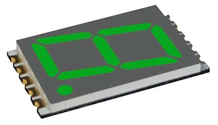 VCC DSM7UA56105  7-Segment LED Display, CA Green 600 mcd RH DP 14.2mm (100)