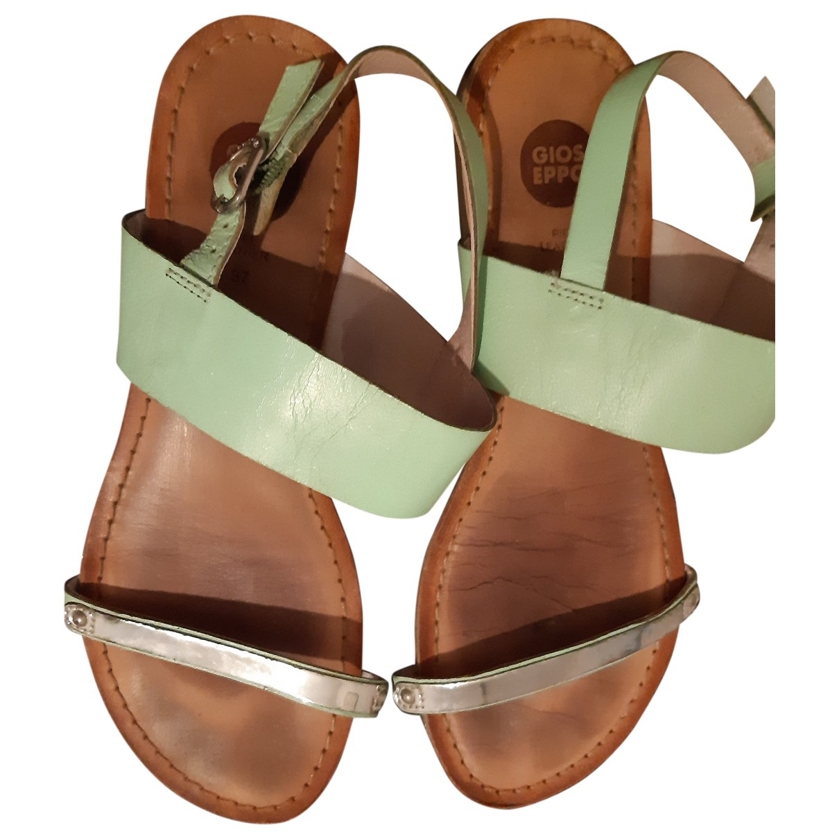 Gioseppo \N Green Leather Sandals for Women 37 IT