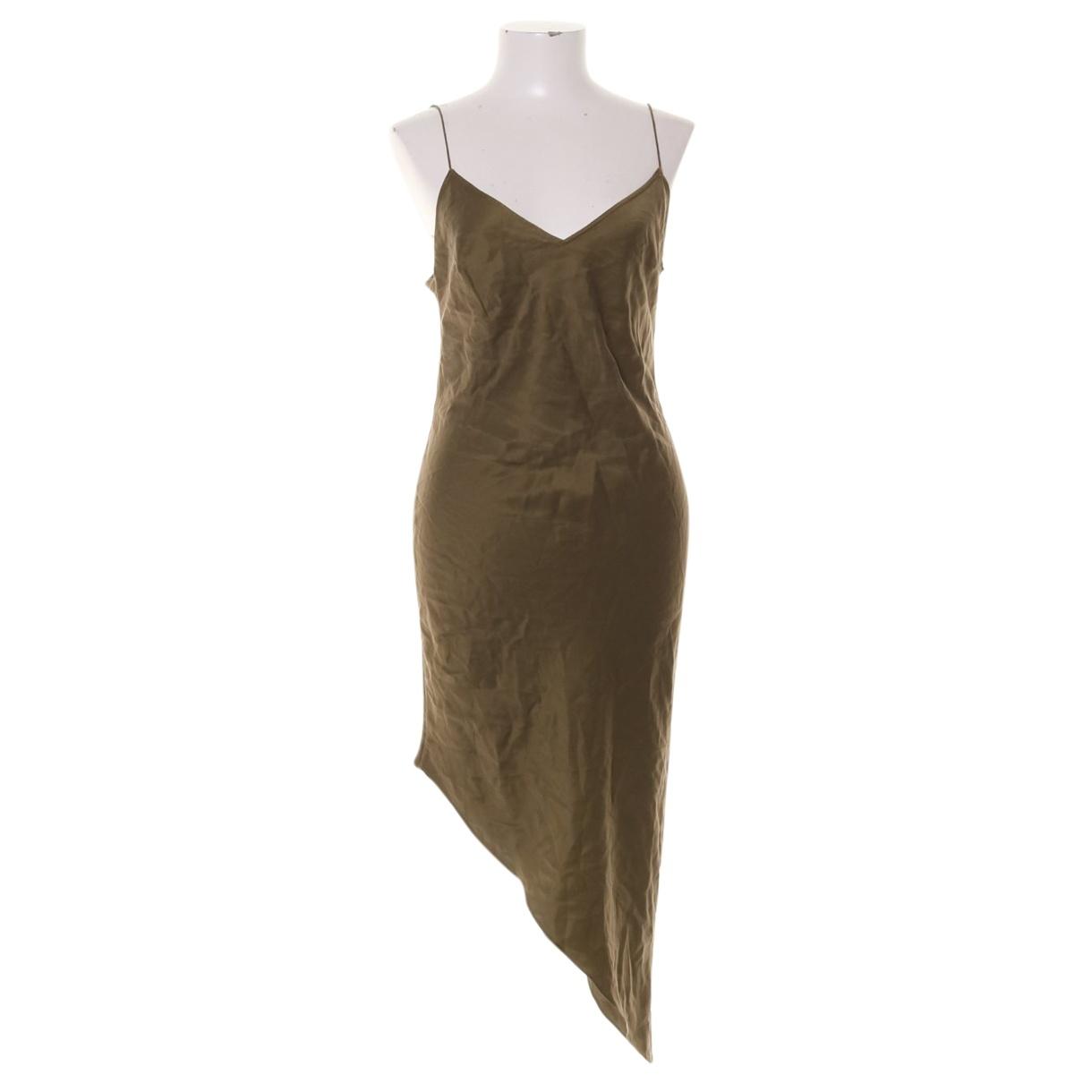 H&m Studio \N Khaki Silk dress for Women 34 FR