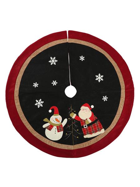Milanoo Christmas Party Supplies Applique Lint Blanket Xmas Costume Decorations