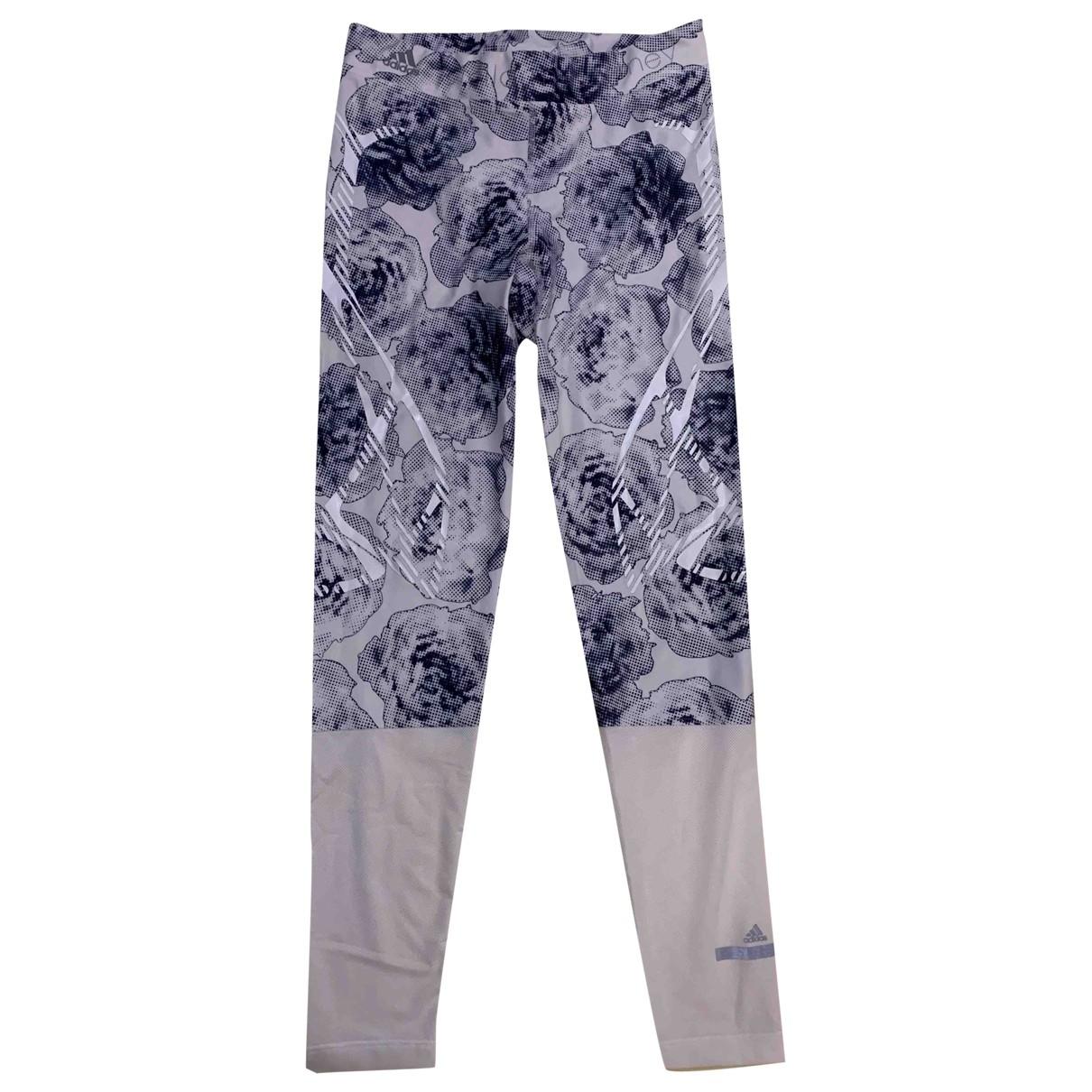 Stella Mccartney Pour Adidas \N White Trousers for Women M International