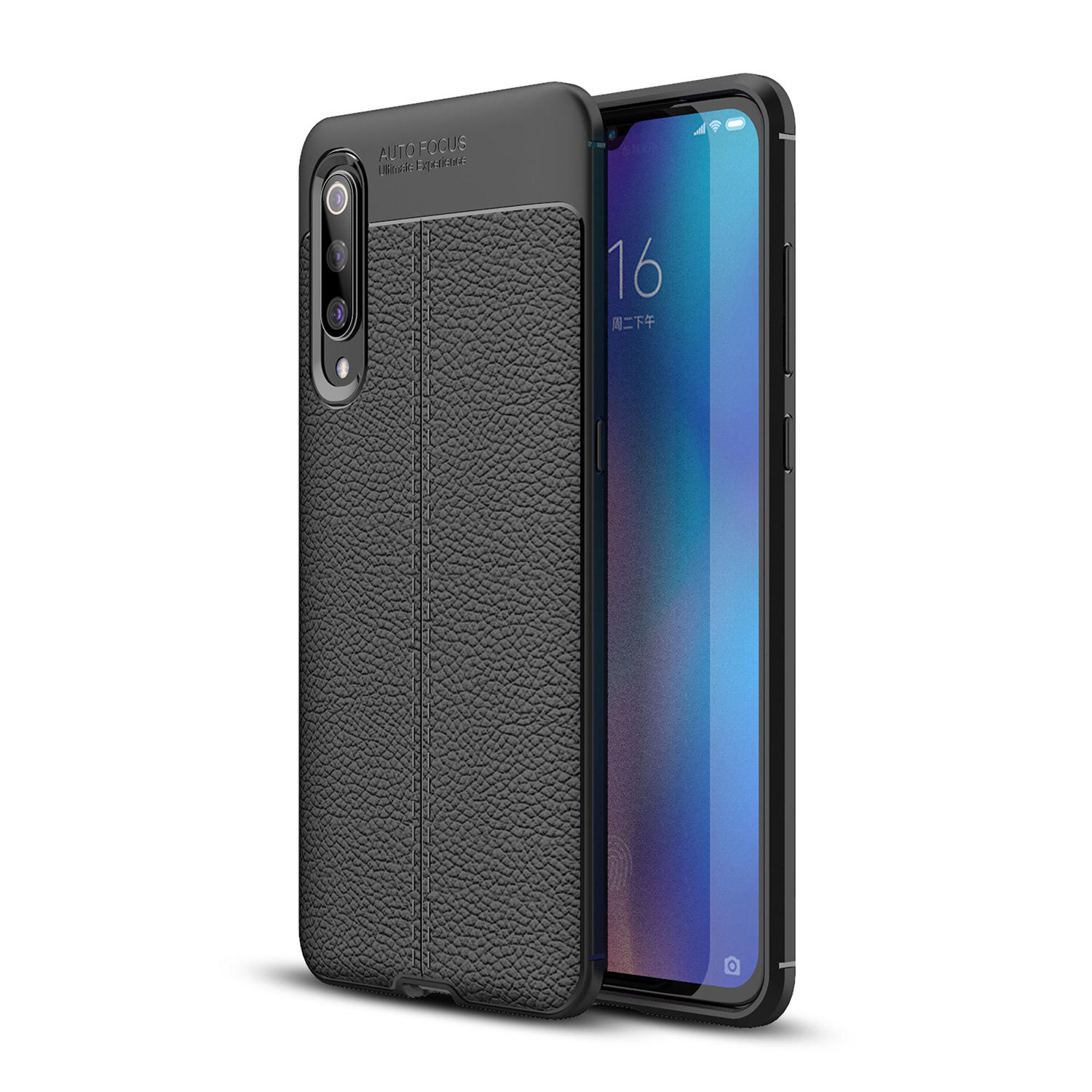 Bakeey Litchi Pattern Shockproof Soft TPU Back Cover Protective Case for Xiaomi Mi9 Mi 9 / Xiaomi Mi9 Mi 9 Transparent E