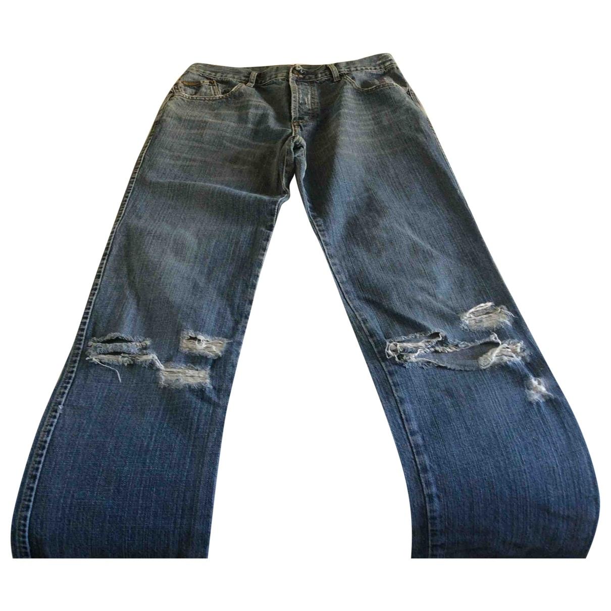 D&g \N Blue Cotton Jeans for Men 34 US