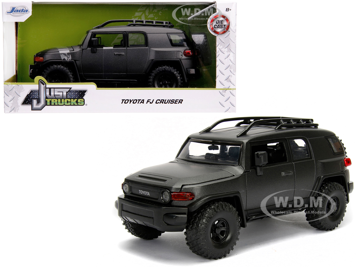 Toyota FJ Cruiser with Roof Rack Charcoal Gray Metallic