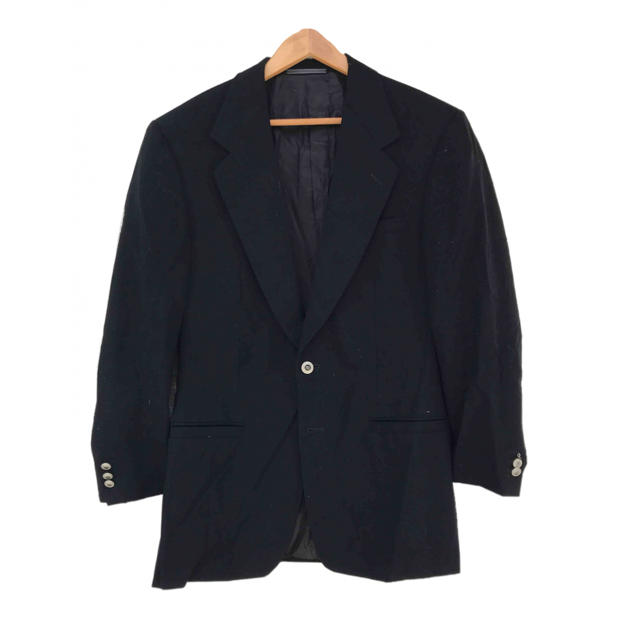 Versace \N Black Wool jacket  for Men 48 IT