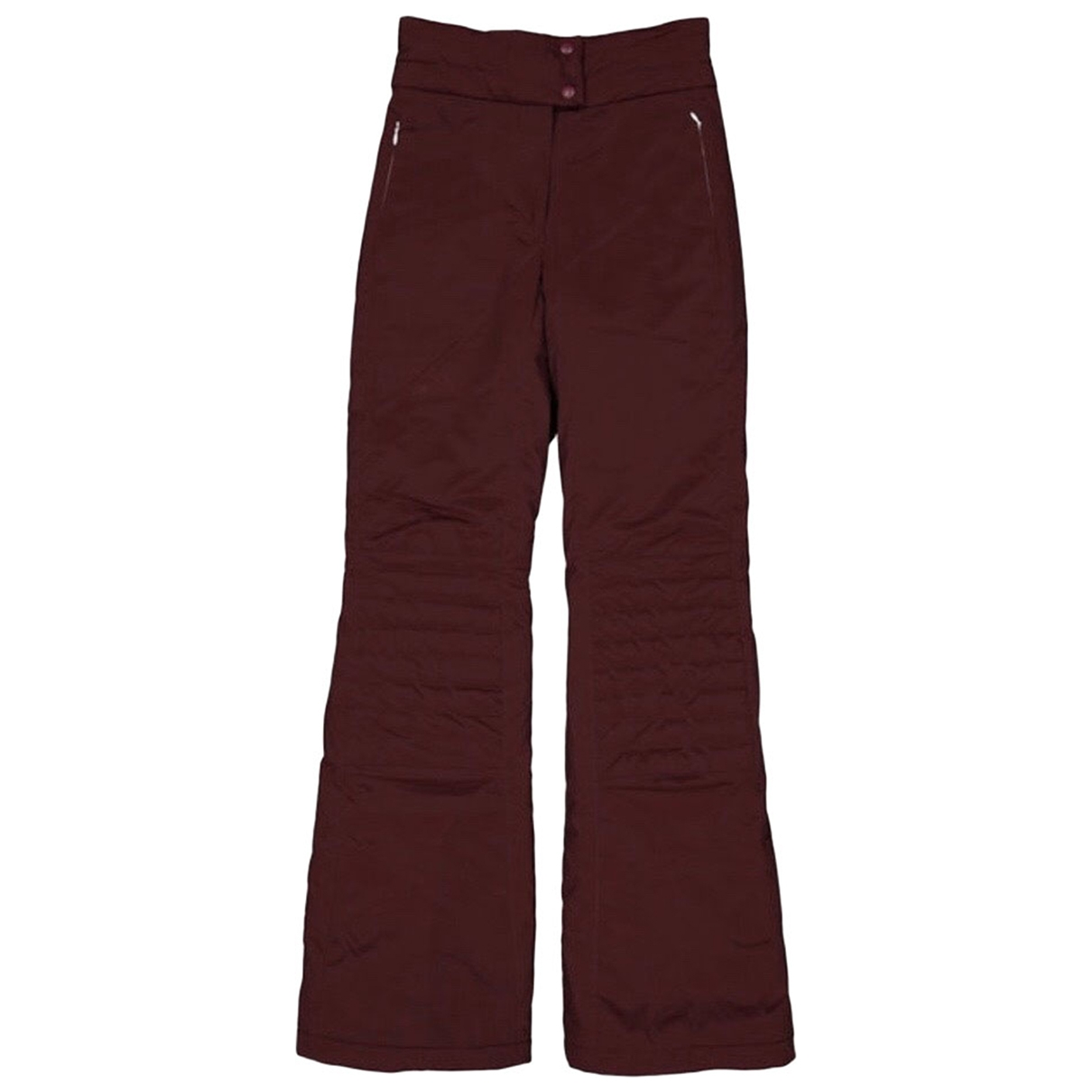 Fendi \N Burgundy Trousers for Women 40 IT