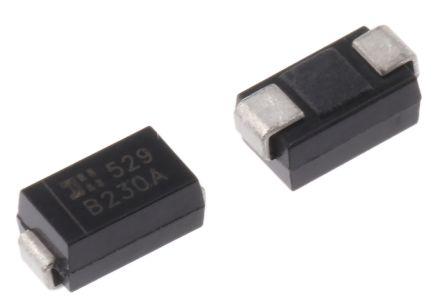 DiodesZetex Diodes Inc 30V 2A, Schottky Diode, 2-Pin DO-214AC B230A-13-F (25)