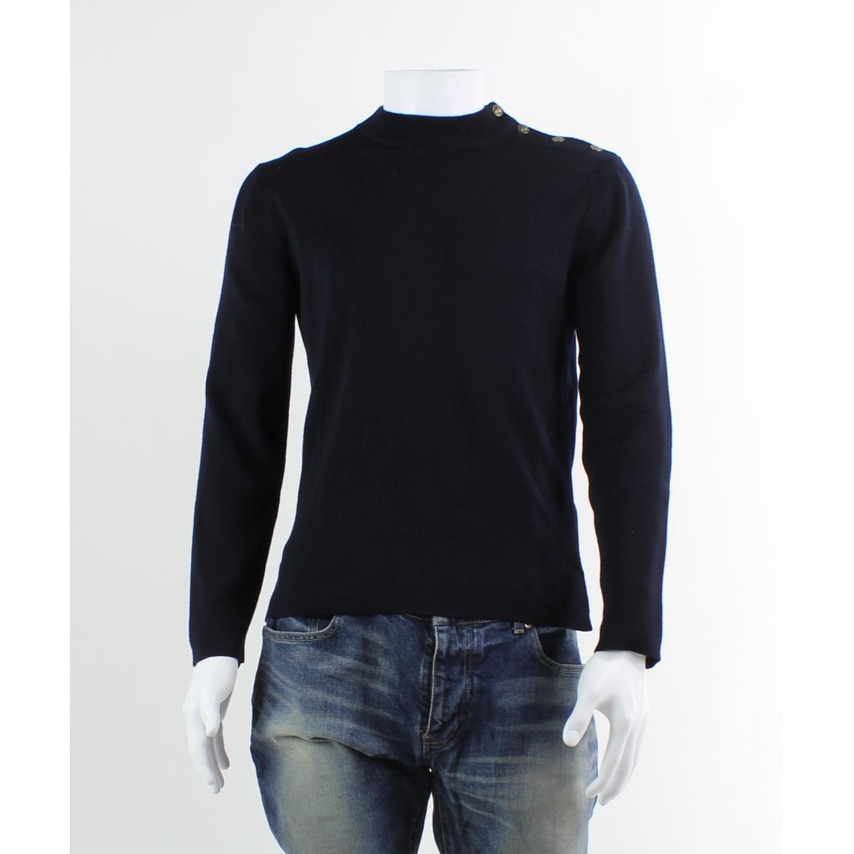 Alexander Mcqueen \N Navy Wool Trousers for Men 46 IT
