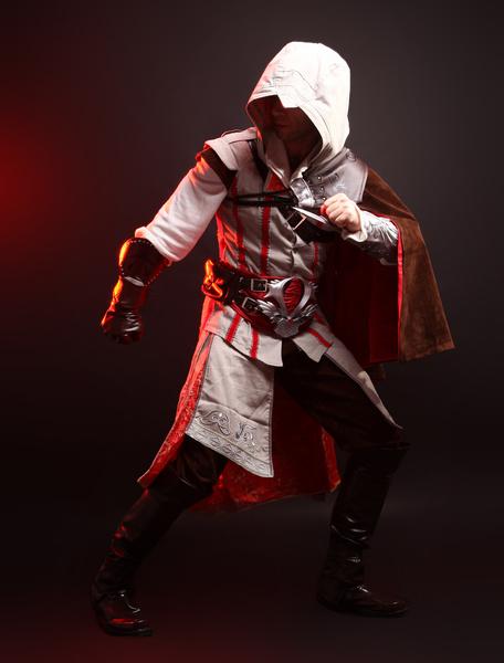 Milanoo Inspired By Assassin's Creed Ezio Halloween Cosplay Costume Halloween Deluxe Edition