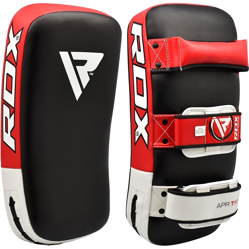 RDX T1 Curved Thai Kick Pad PU Leather Red/White/Black