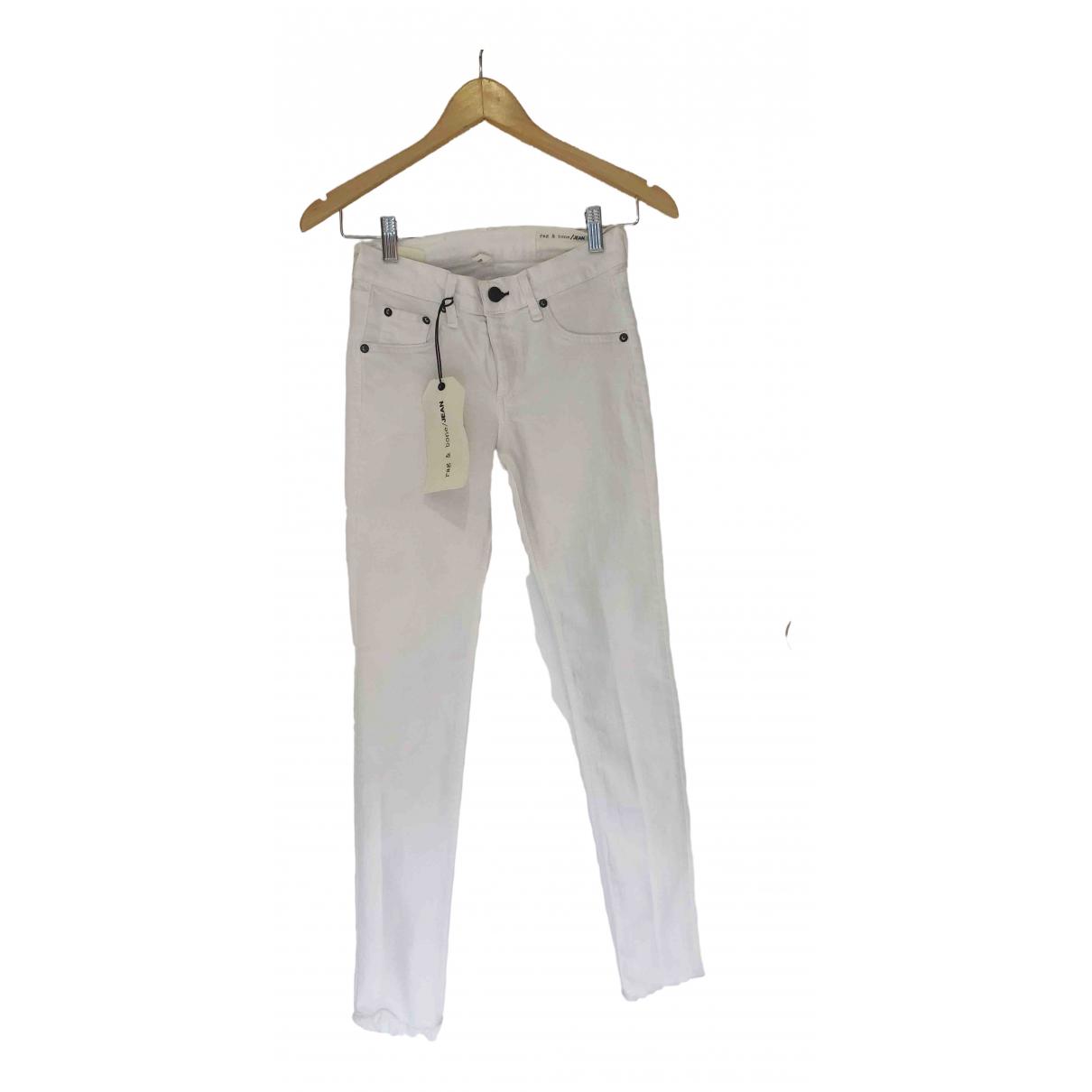 Rag & Bone \N White Cotton - elasthane Jeans for Women 25 US