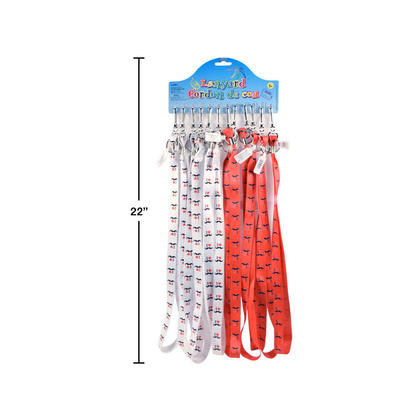 Printed Lanyard Neck Straps With Clip I Love Moustache Key Chain 17