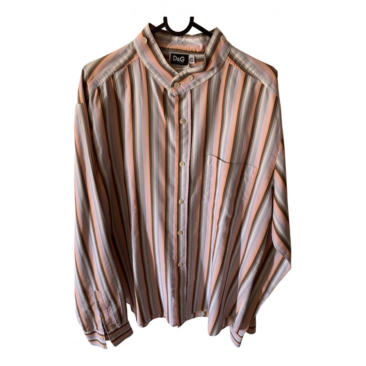 D&g \N Multicolour Cotton Shirts for Men 40 EU (tour de cou / collar)