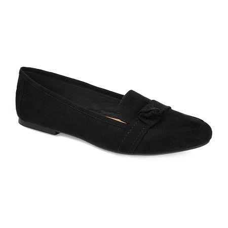 Journee Collection Womens Marci Slip-on Round Toe Loafers, 7 1/2 Medium, Black