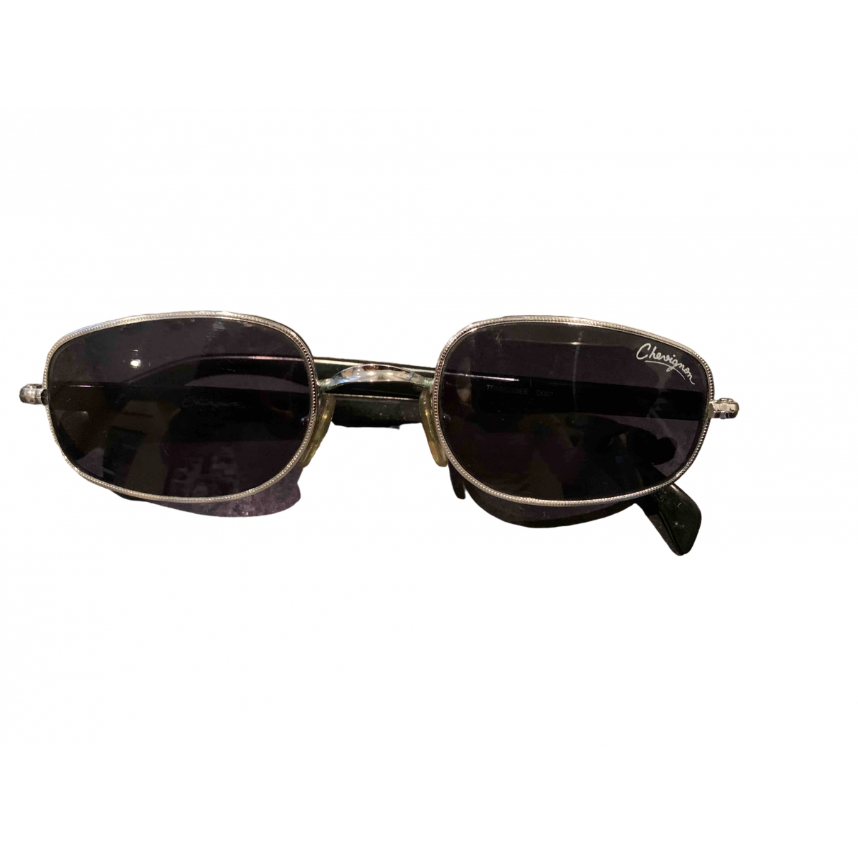 Chevignon \N Metallic Metal Sunglasses for Men \N