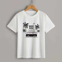 Car & Letter Graphic Tee
