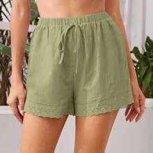 Schiffy Hem Knot Front Shorts