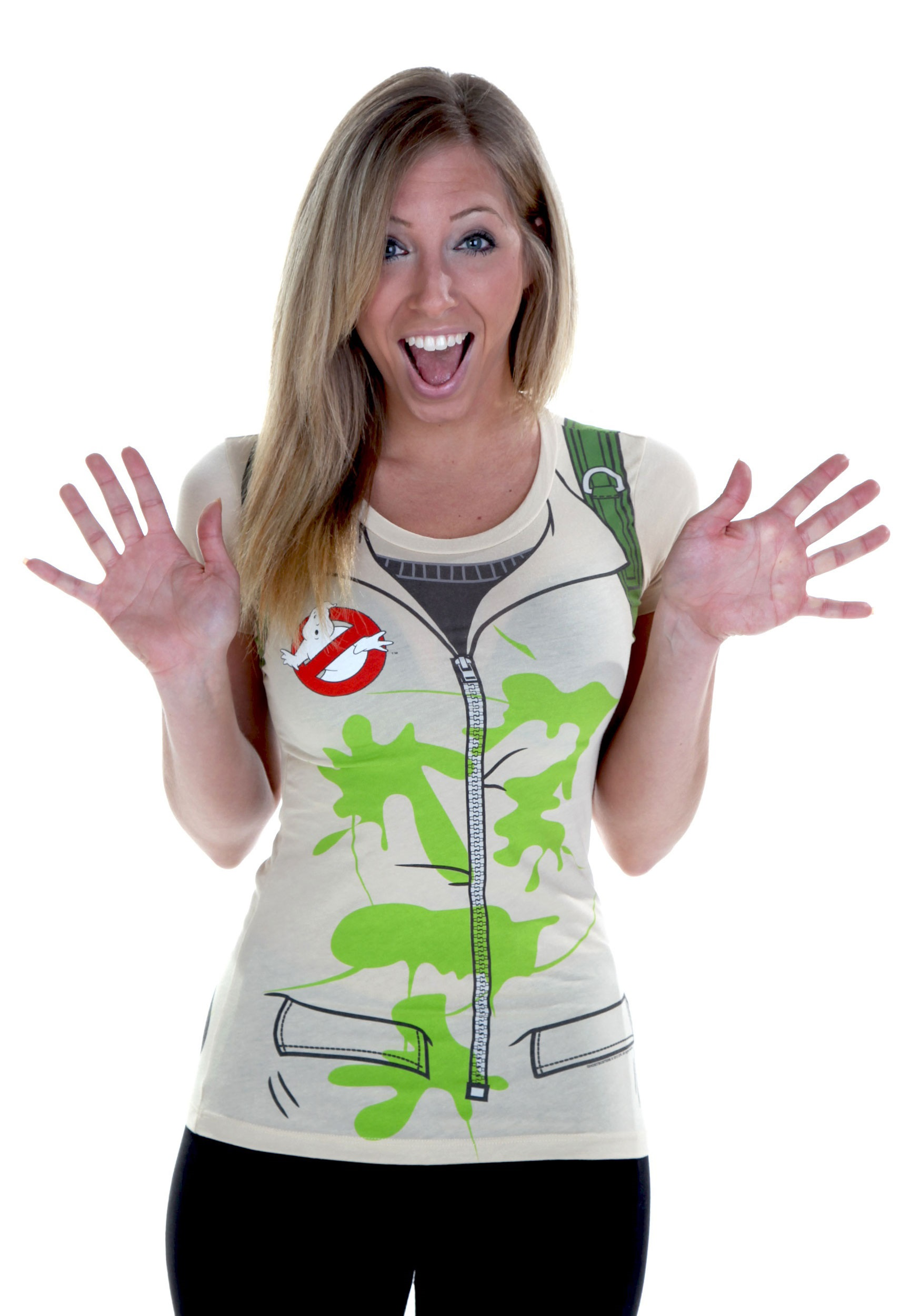 Womens Costume: Slimed Ghostbusters T-Shirt