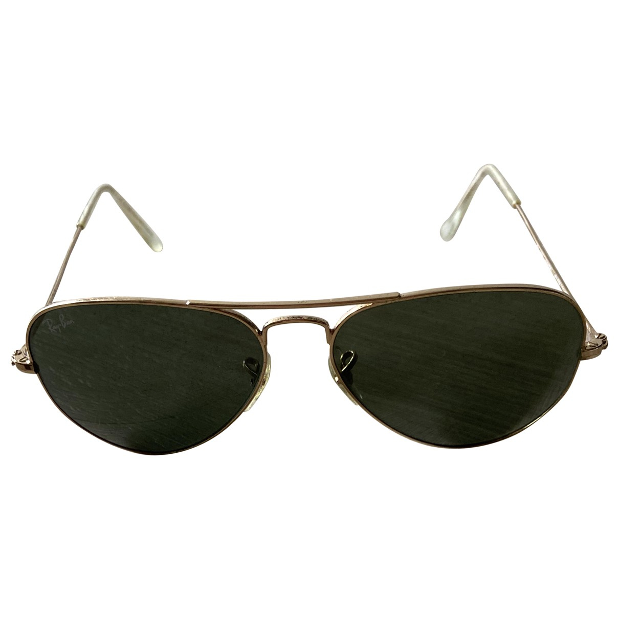 Ray-ban Aviator Gold Metal Sunglasses for Women \N