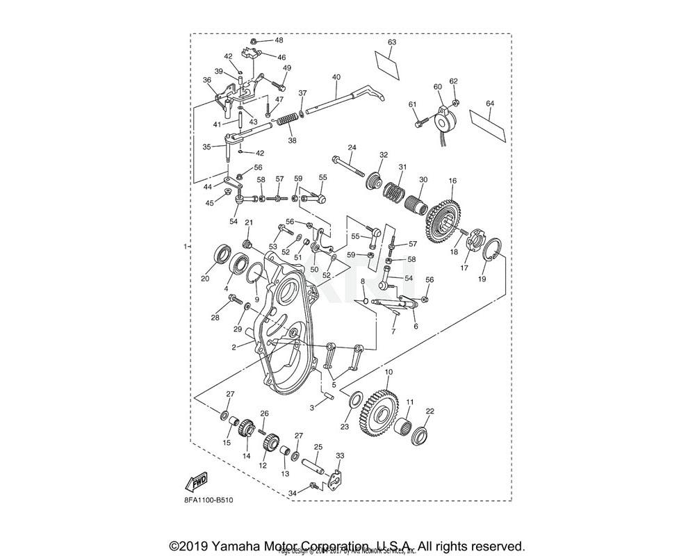 Yamaha OEM 8CW-47564-01-00 COLLAR