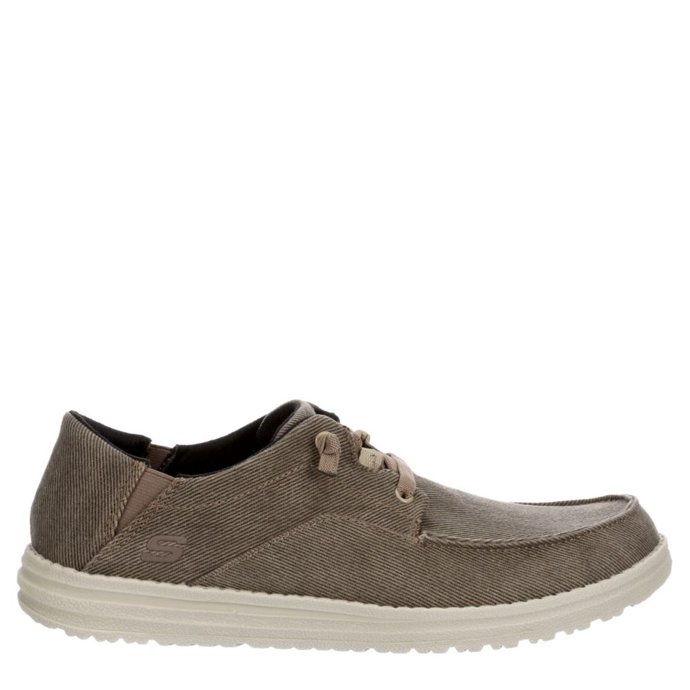 Skechers Street Mens Melson-Volgo Canvas Shoes Loafers