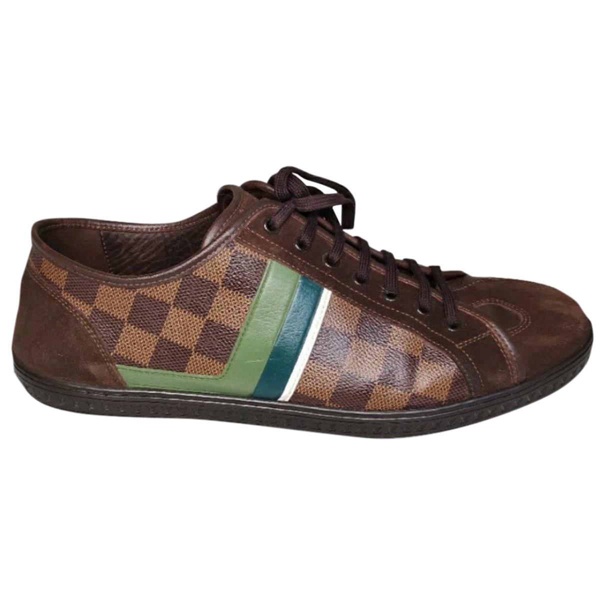 Louis Vuitton \N Brown Cloth Trainers for Men 42 EU