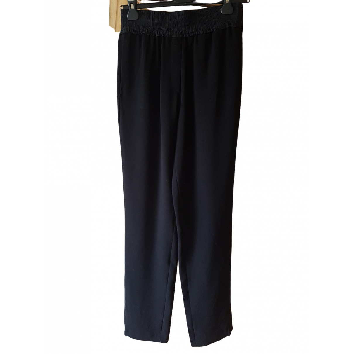 Sandro \N Black Trousers for Women 38 FR