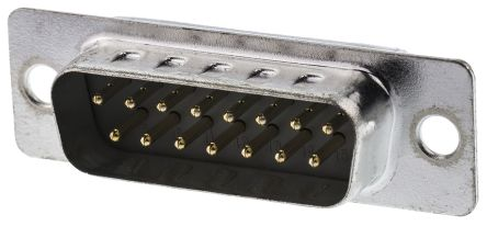 ASSMANN WSW Panel Mount, 15 Pin D-sub Connector Plug, Shell Size A (5)