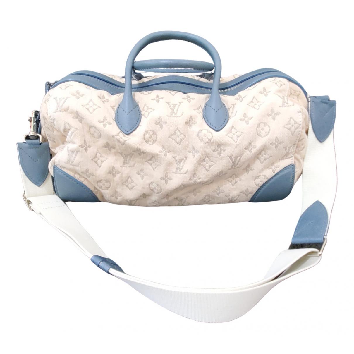 Louis Vuitton \N Blue Cotton handbag for Women \N