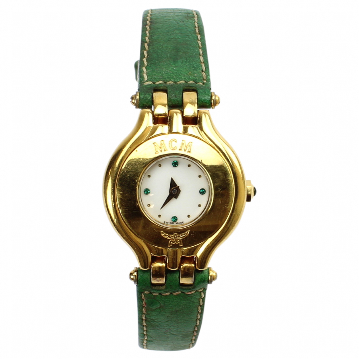 Mcm \N White Gold plated watch for Women \N