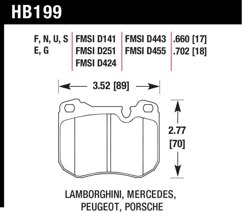 Hawk Performance HB199N.702 Disc Brake Pad Front