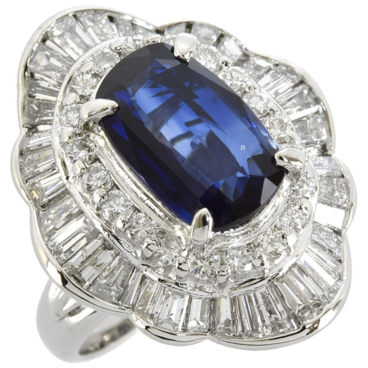 Non Signé / Unsigned \N Silver Platinum ring for Women 52 EU