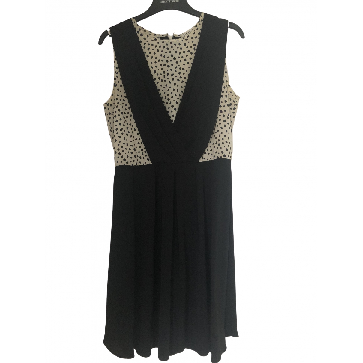 Claudie Pierlot \N Black Silk dress for Women 36 FR