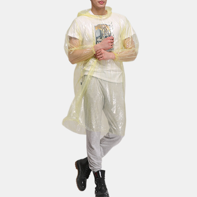 PE Body Protective Suit Disposable Dust-proof & Water-proof Hiking Raincoat