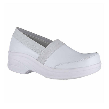Easy Works By Easy Street Womens Attend Clogs, 7 1/2 Medium, White