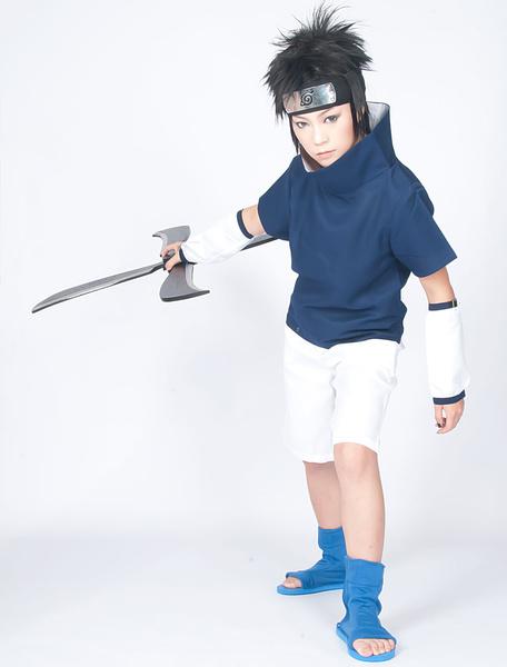 Milanoo Naruto Uchiha Sasuke Cosplay Costume Halloween