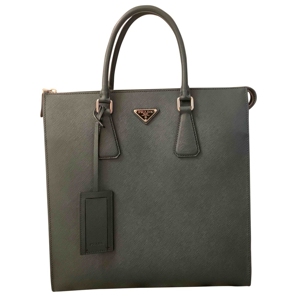 Prada \N Green Leather bag for Men \N