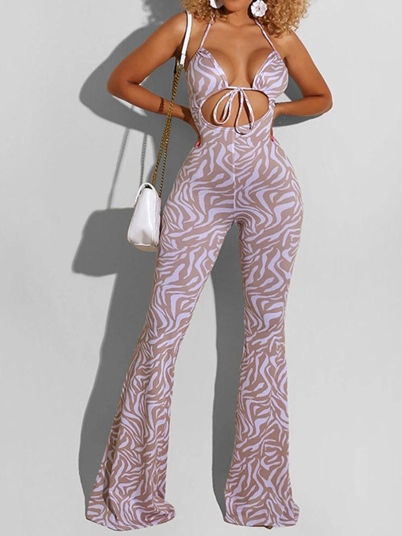 Ericdress Fashion Full Length Gradient Slim Bellbottoms Jumpsuit