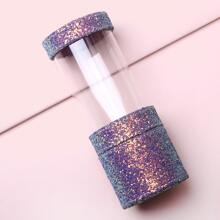 Sequin Decor Clear Makeup Brush Storage Box