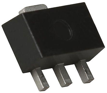 ROHM 2SCR512P5T100 NPN Transistor, 2 A, 30 V, 3+Tab-Pin SOT-89 (50)