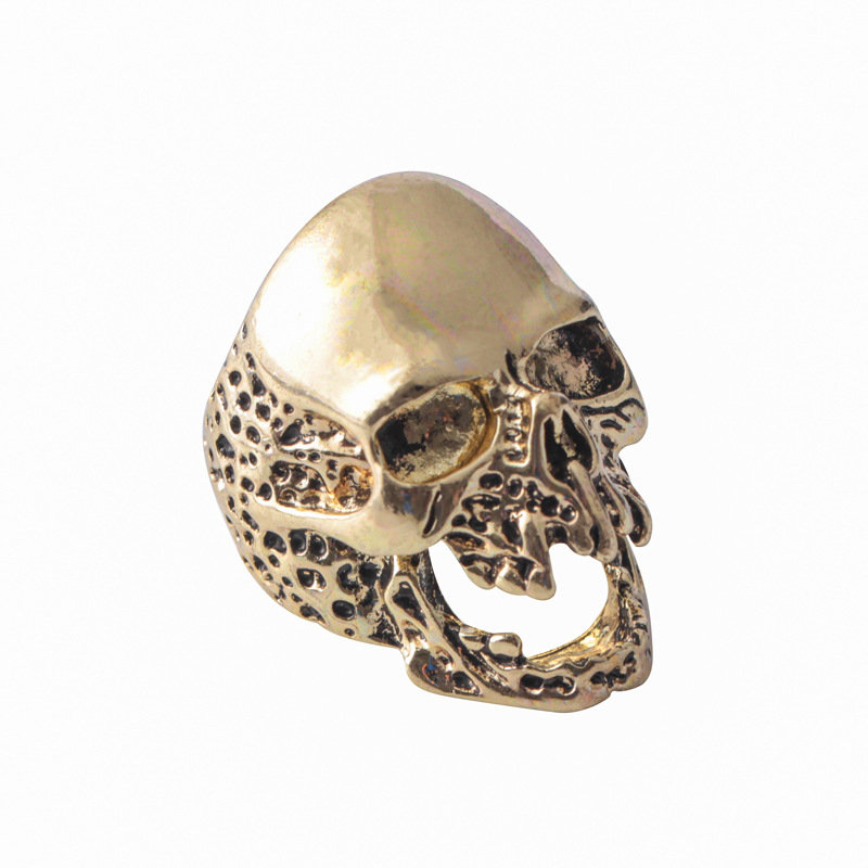 Punk Finger Rings Irregular Rugged Skull Finger Rings Hand Accessories Fashion Jewelry for Men