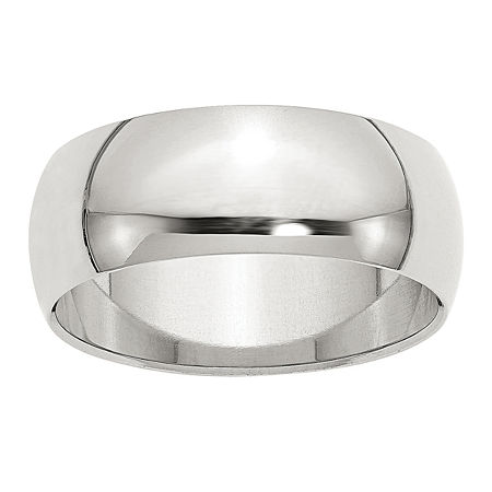 8MM Sterling Silver Wedding Band, 5 , No Color Family