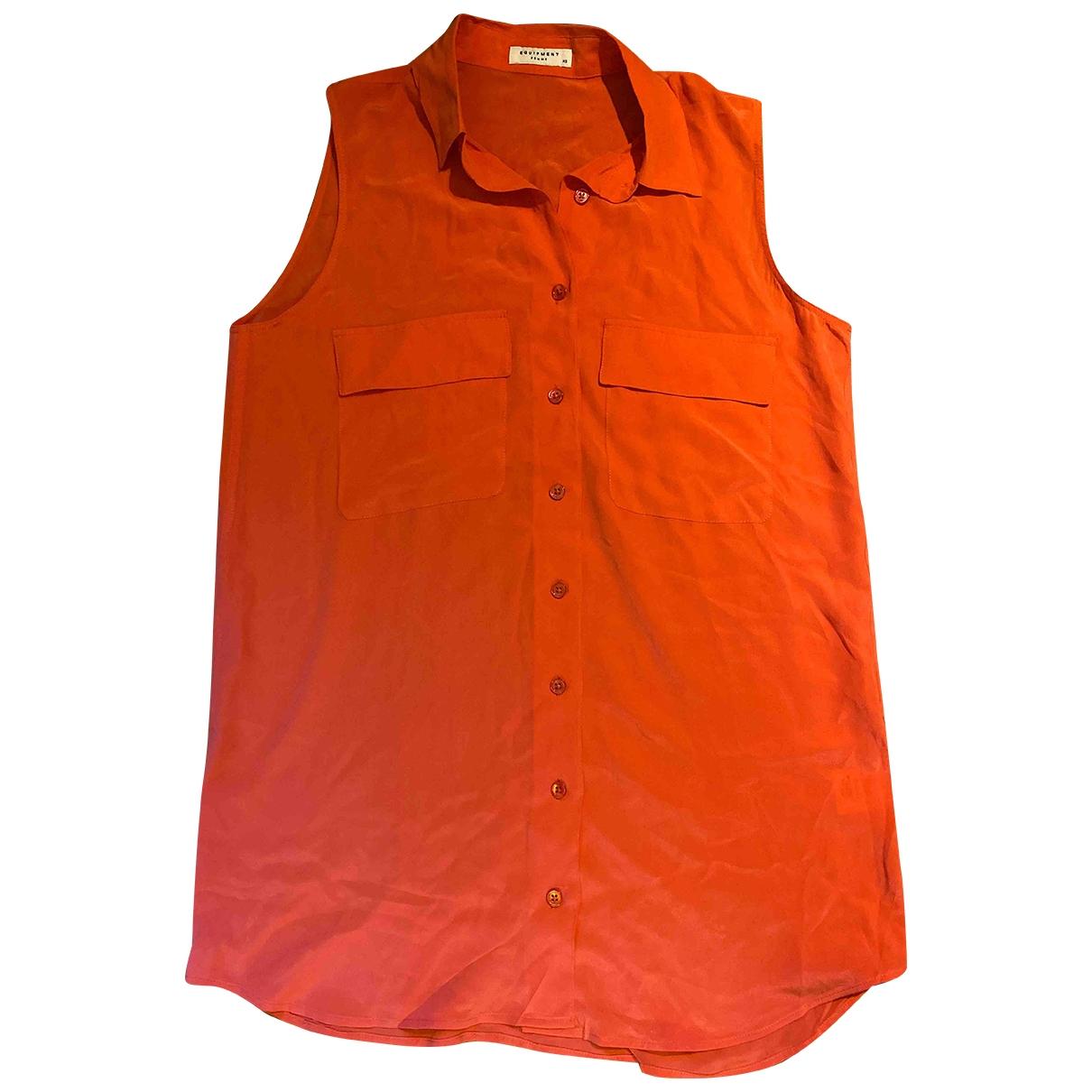 Equipment \N Orange Silk  top for Women XS International