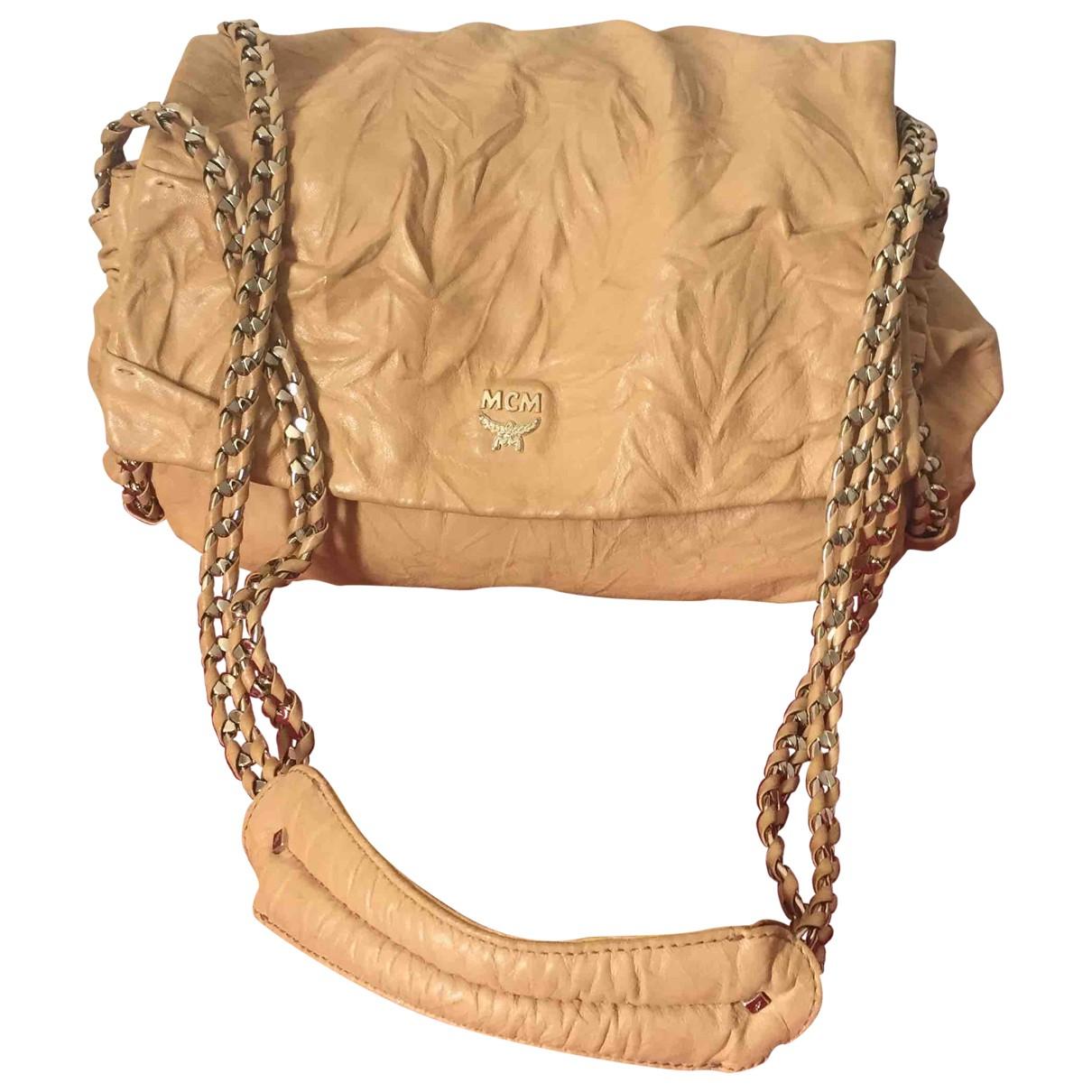 Mcm \N Gold Leather handbag for Women \N