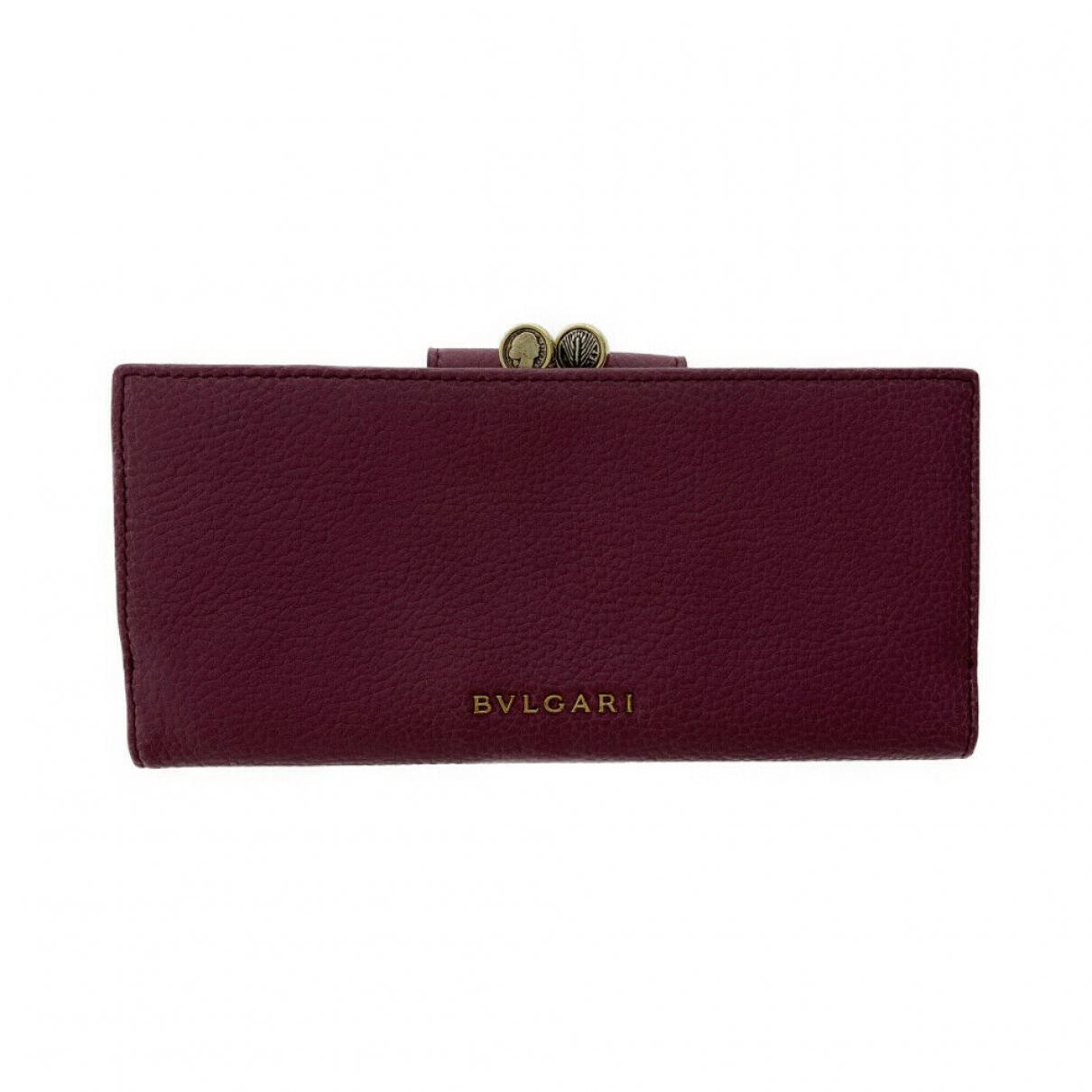 Bvlgari \N Leather wallet for Women \N